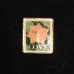 Love stamp is postage pin